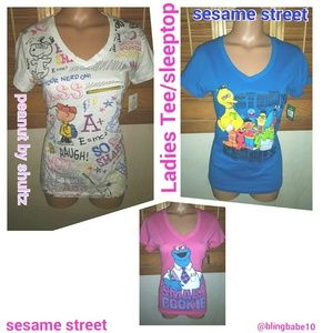 Tops - Three Ladies Tee/Sleep tops