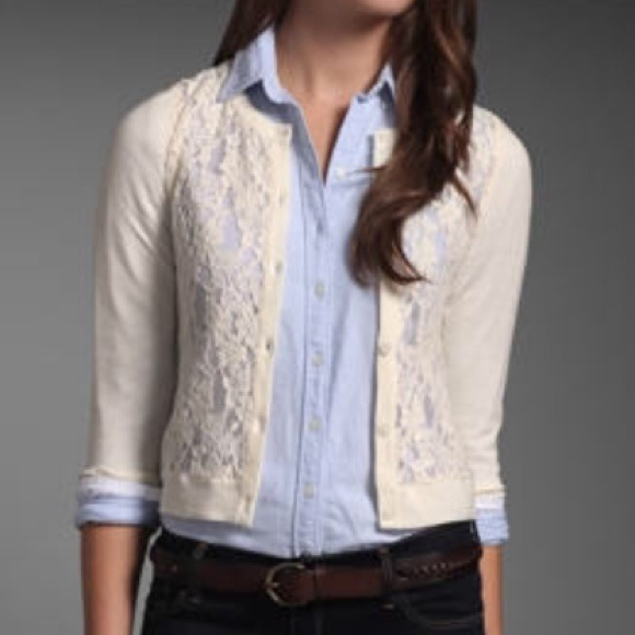 Hollister - Hollister cream lace cardigan from Angelica's closet ...