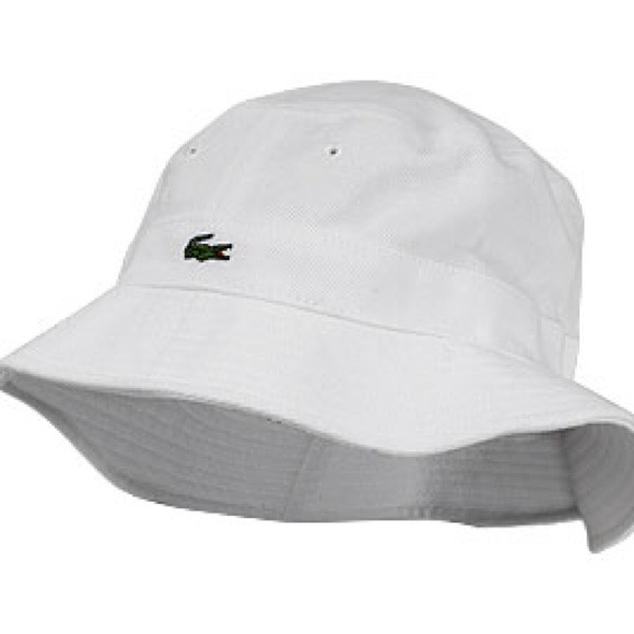 Lacoste Accessories - White Lacoste Bucket Hat a4946d718