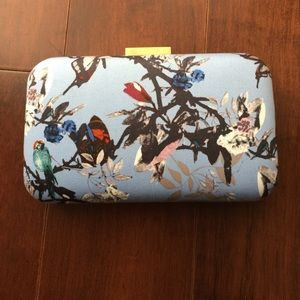 J.crew clutch in bird print