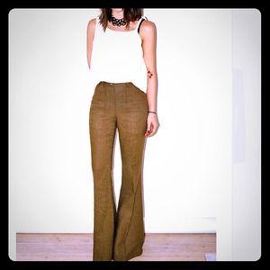 Camel colored wide leg pants