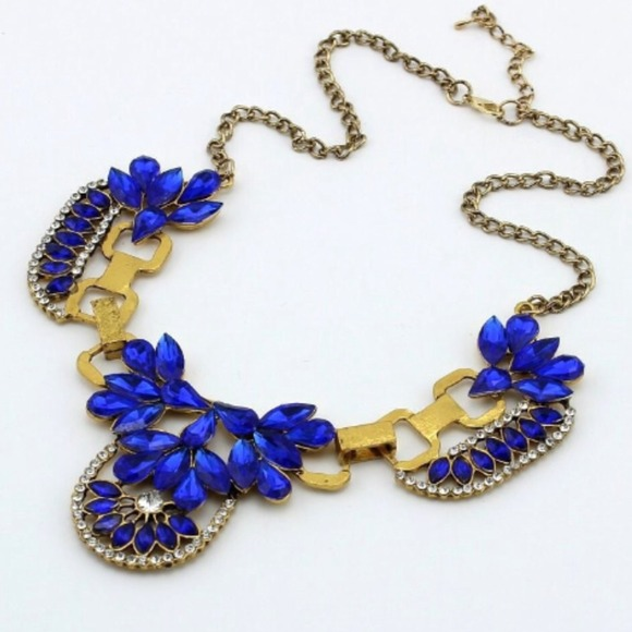 cobalt blue statement necklace os from candice s closet on