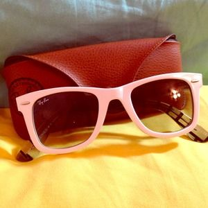 Authentic White Ray Ban Special Edition Wayfarer