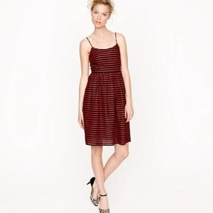 Jcrew striped derby dress