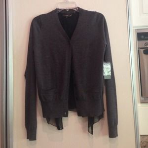 Vera Wang gray sweater medium NWT