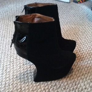 Jeffrey Campbell Slanted Heel Booties
