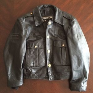 Chicago Cop Shop Jackets Amp Coats Leather Chicago Police