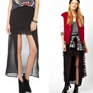Cheap Monday Dresses & Skirts - 🆑Cheap Monday 💀 Mini with sheer maxi