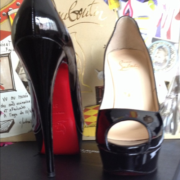 Christian Louboutin Shoes - Authentic Christian Louboutin Lady Peep 150mm 36.5