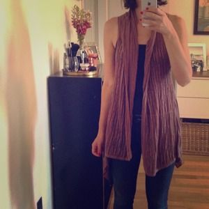 Ella Moss Hippie Vest in light chocolate - Small