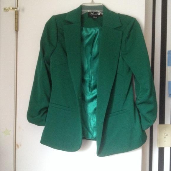 67% off Forever 21 Jackets & Blazers - F21 emerald green blazer ...