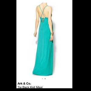 Ark & Co. Dresses - Teal Tie Back Knit Maxi by Ark & Co.