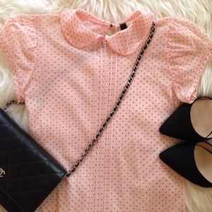Dotted Pink Top