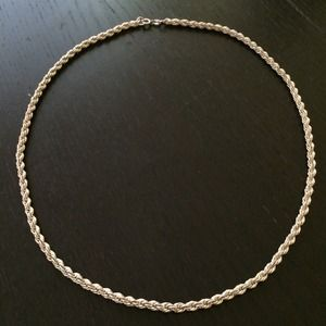 Italian sterling silver rope chain necklace