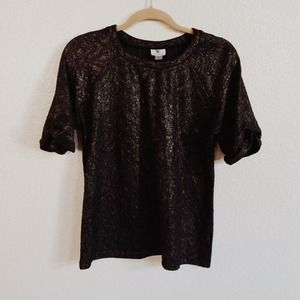 Tops - BUNDLED - Black Top with Gold Details