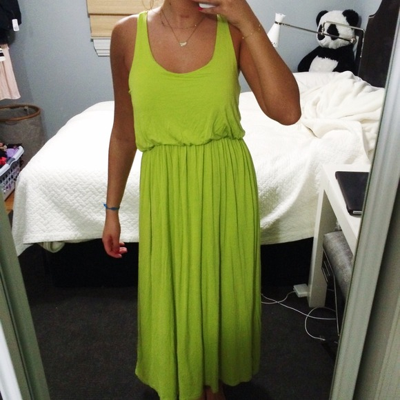 Honey Punch - Lime green, flowy maxi dress! from Sara's closet on ...