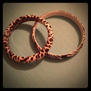 Animal print bangles