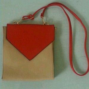 Color Blocked Messanger  Bag