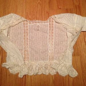 Free People Tops - Free people boho cream lace tunic top size small