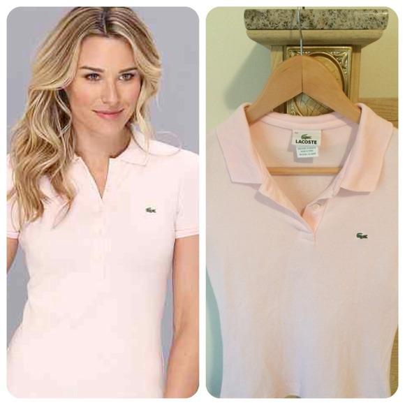 Lacoste Tops - Lacoste pink polo size 34 women 290dfd9ea6