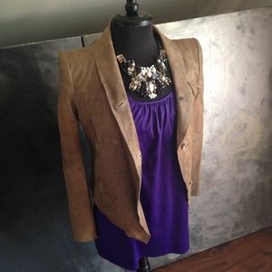 NWT Helmut lang tan/stone sheepskin leather jacket