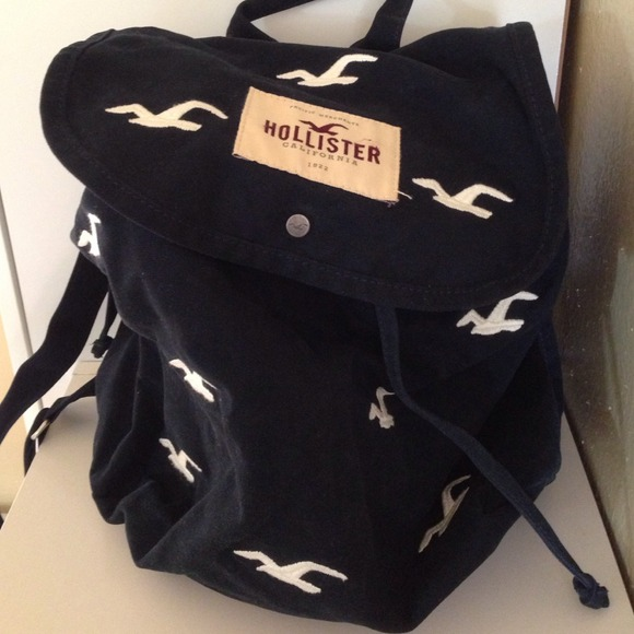 Hollister Bags Canvas Backpack Poshmark