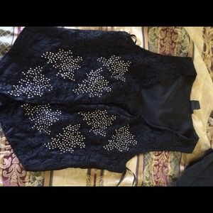 Black beaded vest