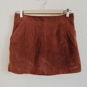 Forever 21 Dresses & Skirts - Suede Leather Skirt