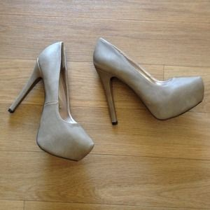 Body Central Shoes - Brand new light beige creme heels!