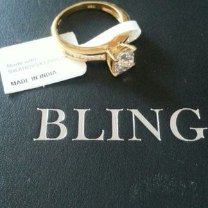 14k over sterling silver ring