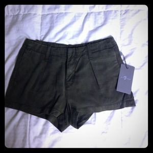 7 for all mankind olive green shorts