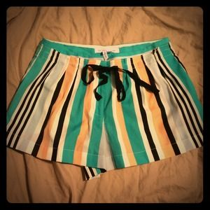 Bcbgeneration striped colorful dressy shorts