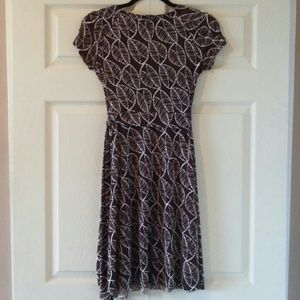 Dresses - Brown and White Wrap Dress - Size S