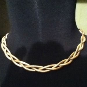 Unique Vintage Coro 3 Gold Plated, Braided Chains