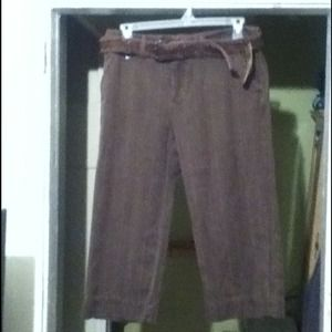 Ruff Hewn Cotton Slacks w/ Belt Size 14 NWT