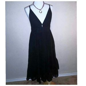 Black dress 100% silk by J.Crew
