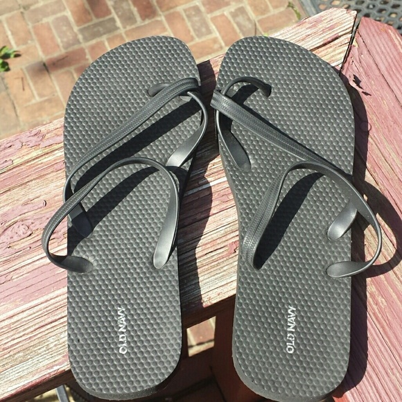 Beach Ready Black Strappy Flip Flops