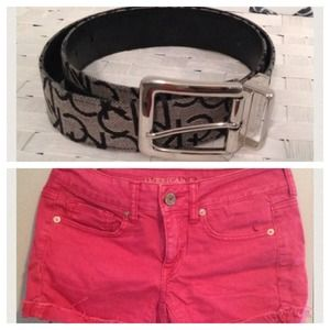 Other - Shorts and belt bundle