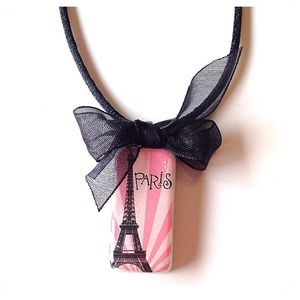 Jewelry - Handcrafted Paris Eiffel Tower Domino Necklace New