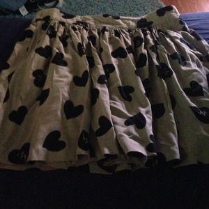 Tan heart shaped skirt