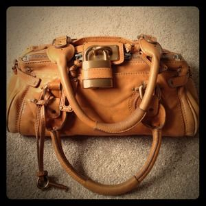 Chloe paddington bag, camel color.