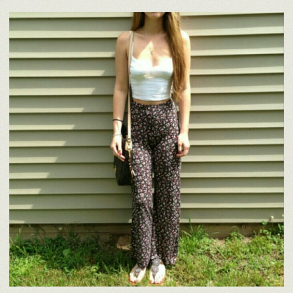 8c4477111f1 Pants - Floral Palazzo pants   crochet top bundle
