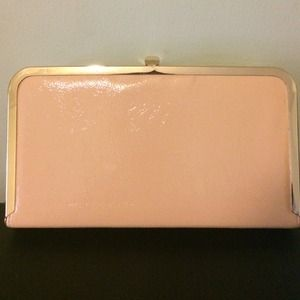 JustFab Peach Clutch (box style)