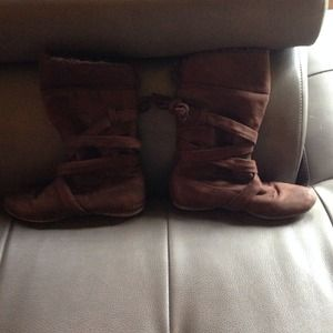 Aldo brow suede boots.