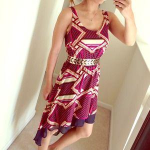 Dresses & Skirts - Aztec print hi-low dress