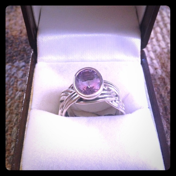 pandora amethyst ring
