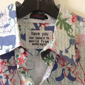 NWOT....CUSTO BARCELONA men's woven shirt