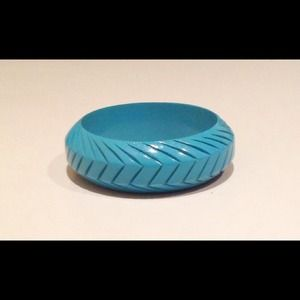 Anthropologie Jewelry - Anthropologie Teal Bangle Bracelet *new*
