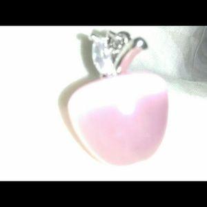 Pink cat eye opal, cz & sterling silver