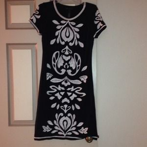 INC international Concepts Black and White Dress